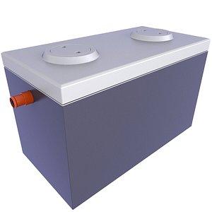 3D Concrete Septic Tank 9 model