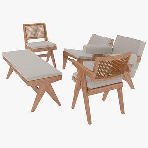 3D cassina wood cushions