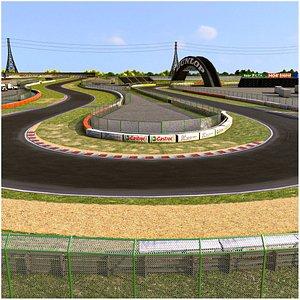 Tsukuba Circuit Race Track 3D model