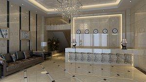 3D Hotel Lobby Scene 04 model
