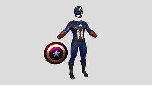3D Captain America Outfit 03 - Character Design Fashion