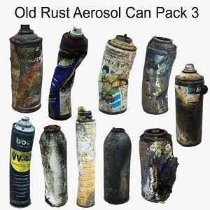 Old Rust Aerosol Can Pack3 Scan 3D 3D