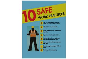 safe work poster 3D