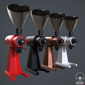 3D grinder coffee model
