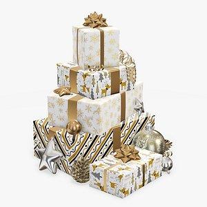 3D gift decoration christmas model