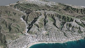 Cityscape Laguna Beach California USA model