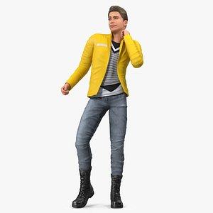 3D Teenage Boy Fashionable Style Dancing Pose model