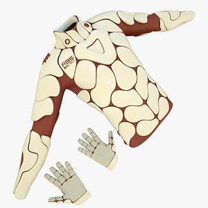 3D male futuristic sci-fi armor model