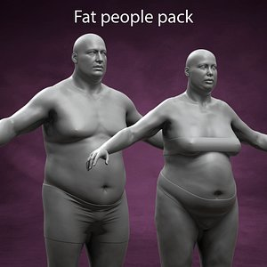 Fat People Pack 3D model
