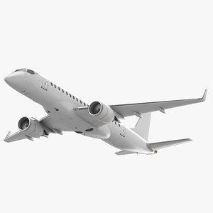 3D Jet Airliner Retracted Landing Gear
