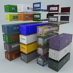 3D containers modeled body model