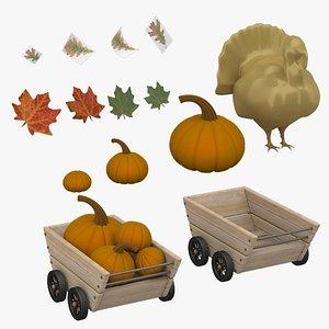 3D Thanksgiving Set