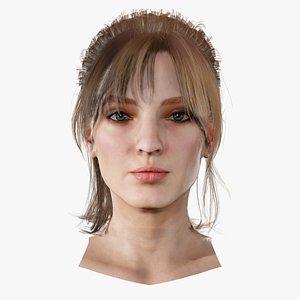 3D Realistic model of female head Olivia model