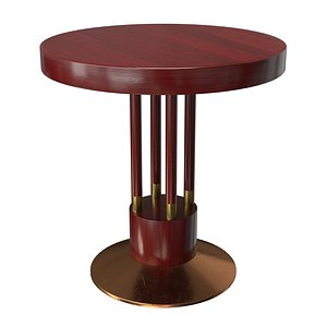 3D model Gebrüder Thonet Vienna Art Nouveau Coffee Table