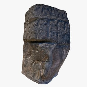 stele sargon king akkad 3D