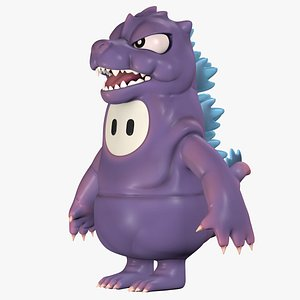 3D model Fall Guys Skin Godzilla Character 8k