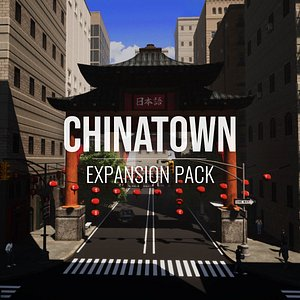 3D model Chinatown - Expansion Pack - Unity HDRP