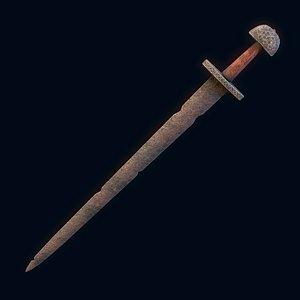 Viking Sword Wooden Hilt model