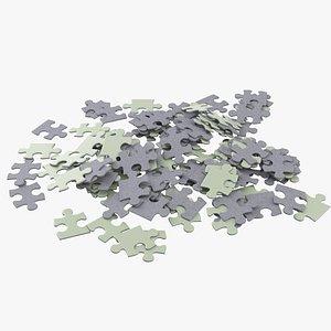 Jigsaw Puzzle Pile 3D model