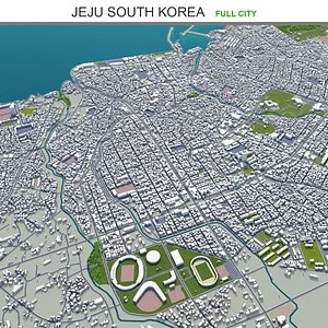 3D model Jeju South Korea
