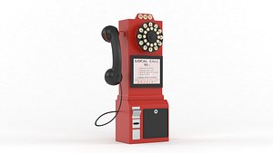 3D model classic pay phone