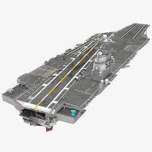 uss gerald aircraft carrier 3D model