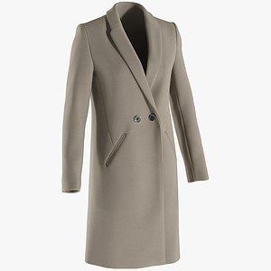 Women's Coat 2 3D model
