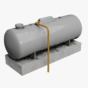 3D GLP Industrial  Propane Fuel Tank model