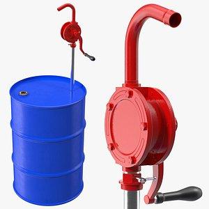 rotary pump oil barrel 3D