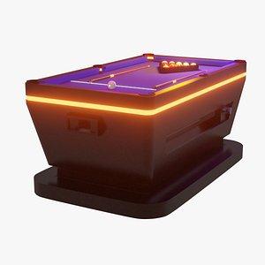 3D model billiard cue