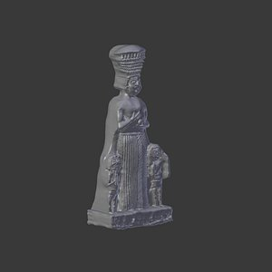 3D kybele hitit statue