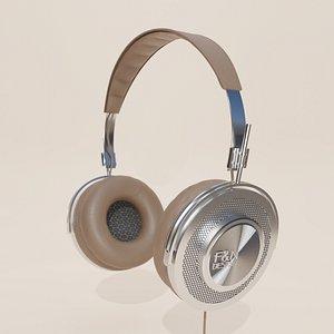 vintage artistic headphone 3D model