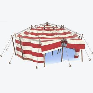 3D Circus Tent PBR model