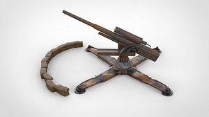 3D howitzer weapons artillery