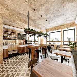 3D restaurant cafe bistro
