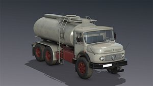 low-poly mercedes l2624 tanker truck model