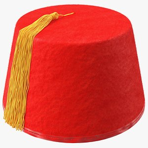 traditional arabic red fez 3D