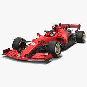3D Formula 1 Red Car 2021 F1 model