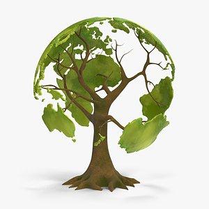 tree globe 3D