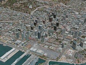 san diego city 3D