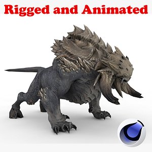Dark Demon Monster Rigged and Animated model