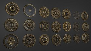 Collection of Classical Rosette 3D model
