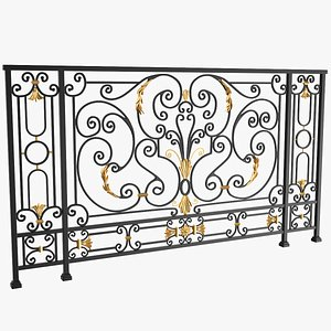 3D model Iron Railing Ferforge