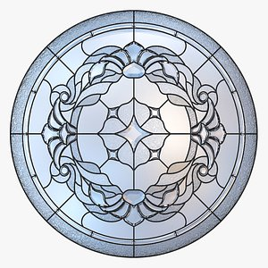 3D model Stained-glass window