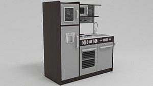 kidkraft uptown espresso 3D model