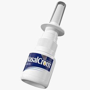 3D allergy symptom controller bottle