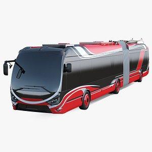 3D model electric hybrid trolleybus simple
