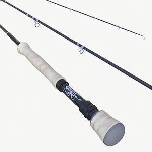3D Fly Fishing Rod model