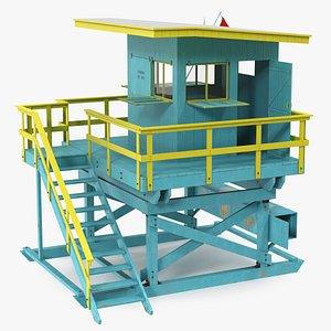3D Beach Lifeguard House