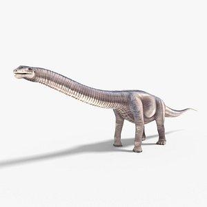 3D argentinosaurus blender v-multi model